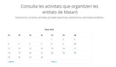 Mostra agenda compartida Mataró