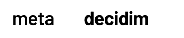 Decidim's official logo